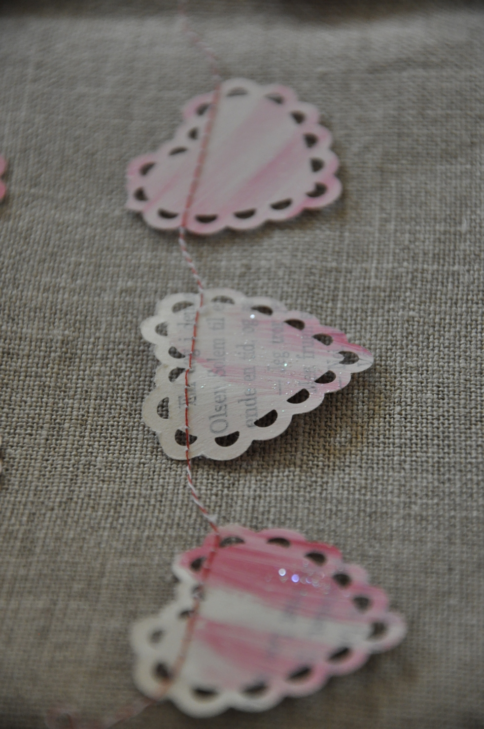 Wings of Whimsy: DIY Book Crafts No 1 - Heart Garland