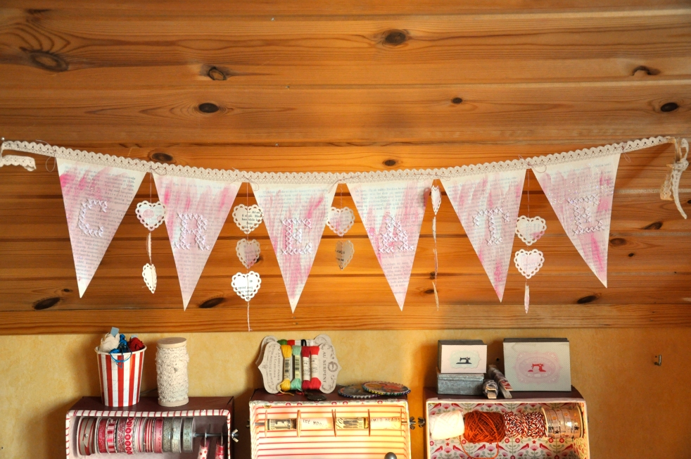 Wings of Whimsy: DIY Book Crafts No 2 - CREATE Embroidered Garland