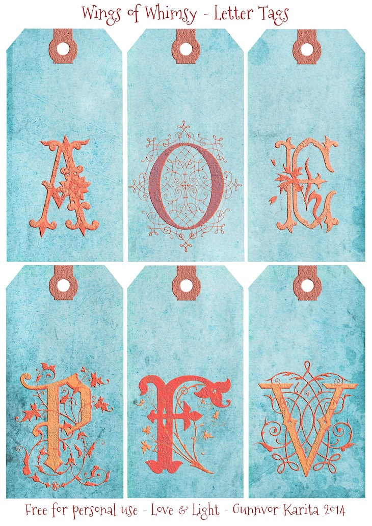Wings of Whimsy: French Initials Tags 2 #vintage #ephemera #freebie #printable #tags