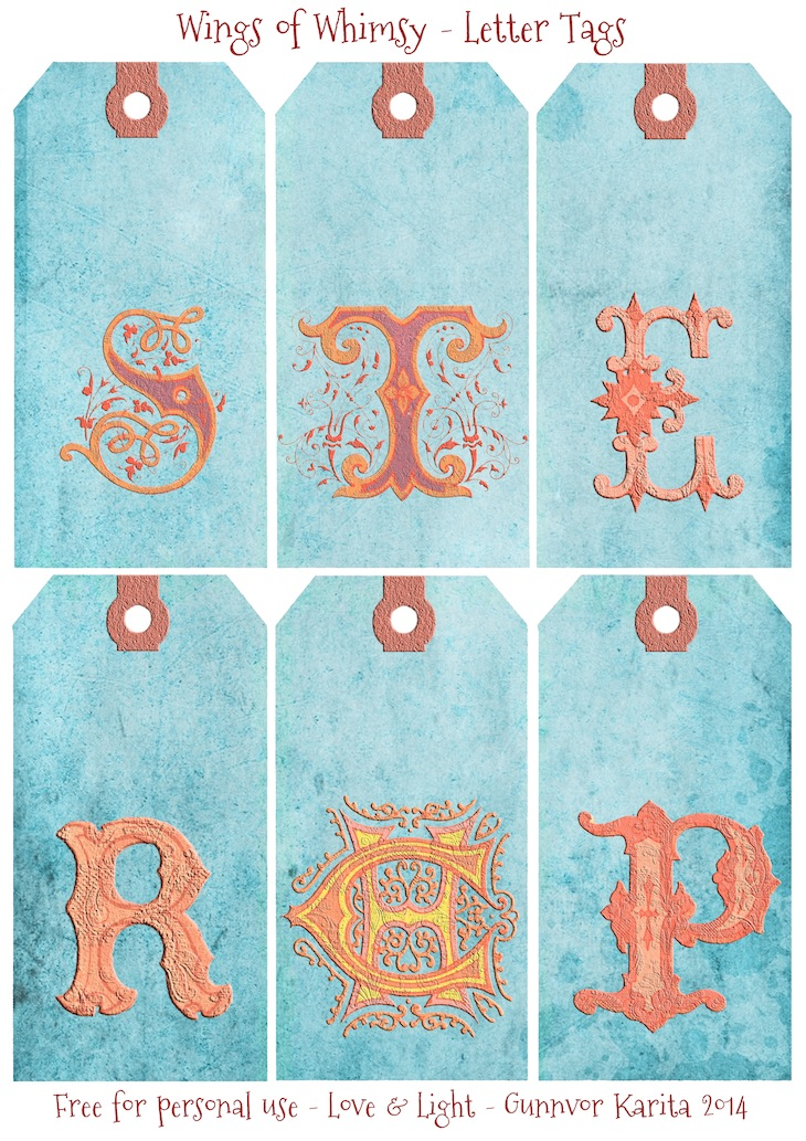 Wings of Whimsy: French Initials Tags 3 #vintage #ephemera #freebie #printable #tags