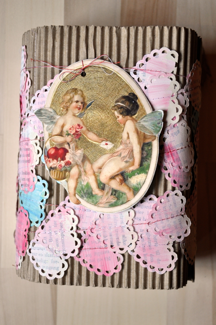Wings of Whimsy - DIY Old Book Crafts No 6C - Sweet Pea Journal - Gift Wrap