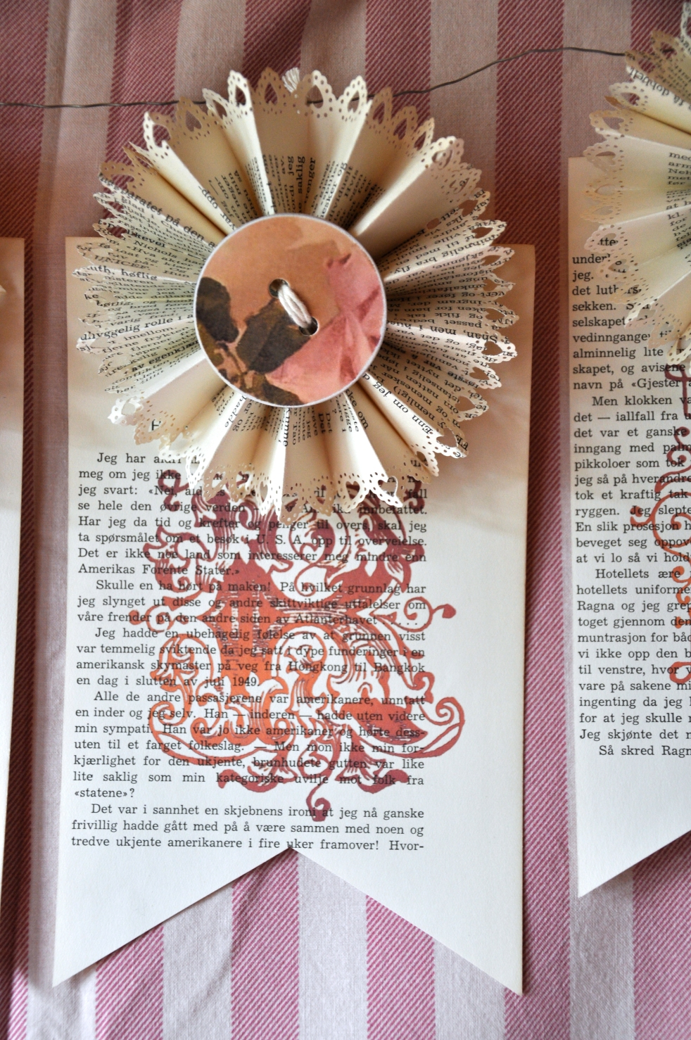 Wings of Whimsy: DIY Book Crafts No 3 - INSPIRE Printed Garland