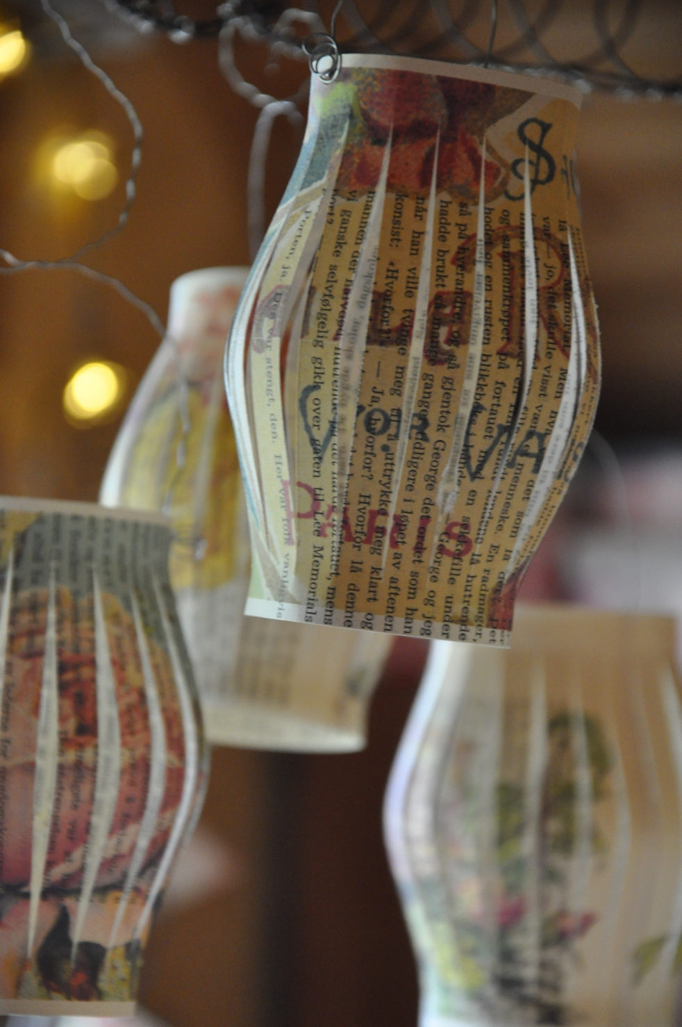 Wings of Whimsy: DIY Book Crafts No 5 - Rose Lanterns