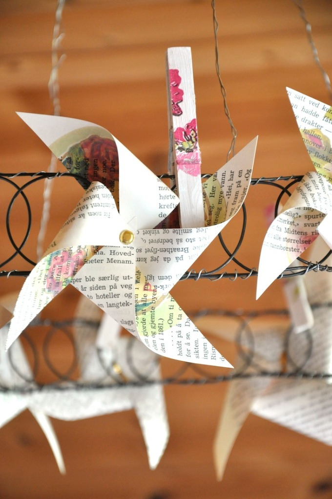 Wings of Whimsy - DIY Old Book Crafts No 7 - Rose Pin Wheels
