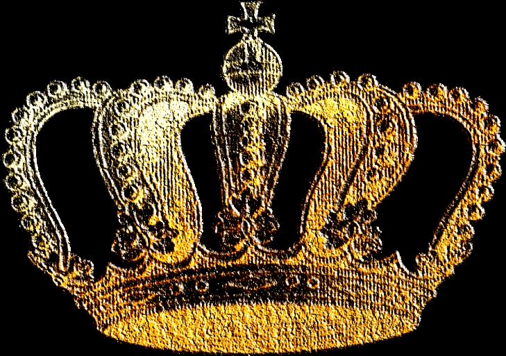 Wings of Whimsy: Gilded Vintage Crown 1 - PNG (transparent background) #vintage #freebie #printable #scrap