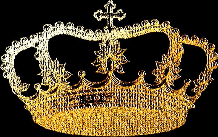Wings of Whimsy: Gilded Vintage Crown 2 - PNG (transparent background) #vintage #freebie #printable #scrap