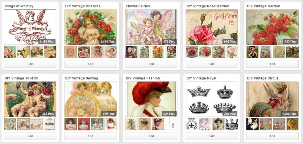 Wings of Whimsy: Some Vintage Themed Pinterest Boards