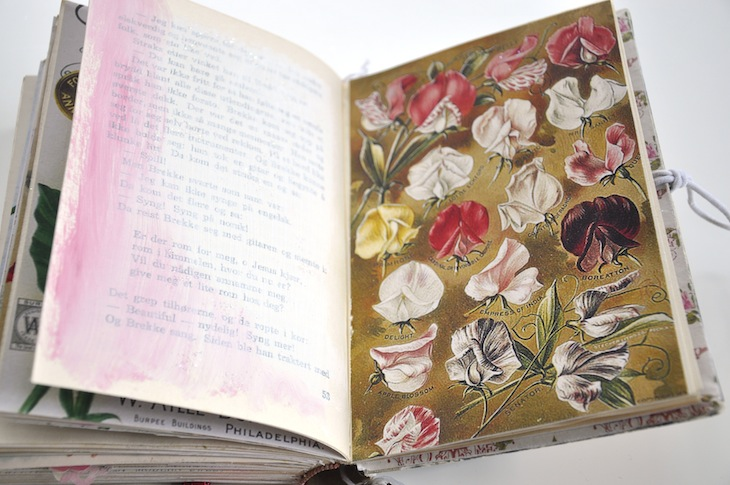 Wings of Whimsy - DIY Old Book Crafts No 6A - Sweet Pea Journal  kopi
