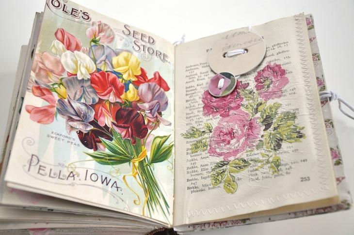 diy old book crafts  u2013 no 6b  u2013 sweet pea journal surprises