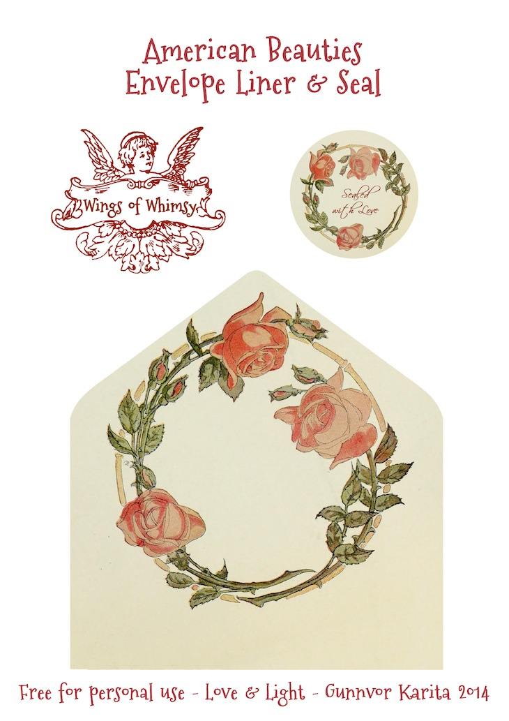 Wings of Whimsy: American Beauties Stationery #vintage #ephemera #printable #freebie #stationery