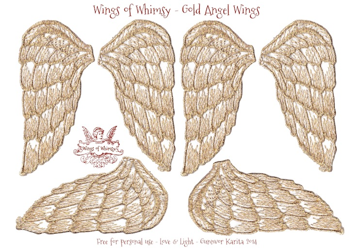 Wings of Whimsy: Angel Wings Collage Sheet #freebie #printable #wings #collage sheet