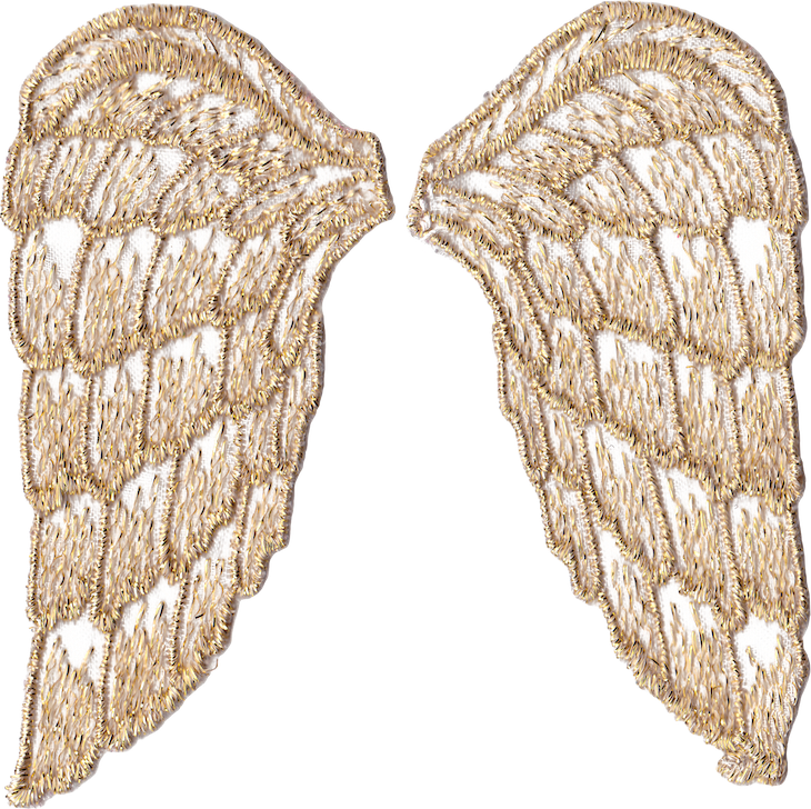 Wings of Whimsy: Gold Angel Wings PNG-file (transparent background) #freebie #printable #wings