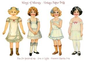 Wings of Whimsy: Vintage Paper Doll Angels #vintage #printable #freebie #ephemera #paper #doll