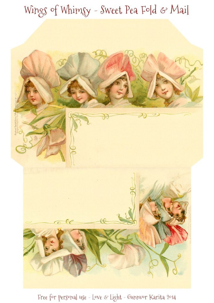 Wings of Whimsy: Sweet Pea Stationery #freebie #printable #ephemera #vintage #stationery