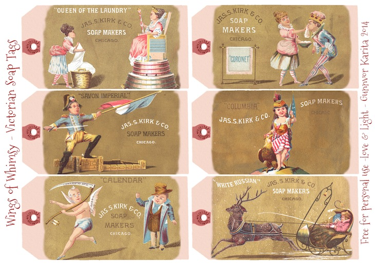 Wings of Whimsy: Victorian Soap Tags #printable #freebie #ephemera #vintage