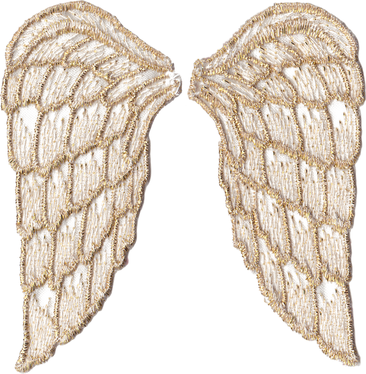 Wings of Whimsy: White Angel Wings PNG-file (transparent background) #freebie #printable #wings