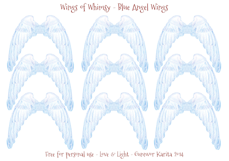 Wings of Whimsy: Vintage Angel WIngs #vintage #printable #freebie #ephemera #paper #doll