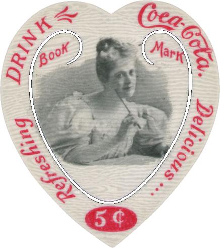 Wings of Whimsy: Coca Cola Heart Bookmarks #freebie #printable #ephemera #heart