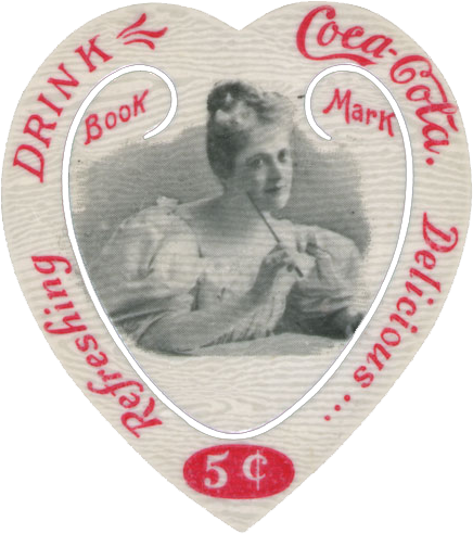 Wings of Whimsy: Coca Cola Heart Bookmarks #freebie #printable #ephemera #heart