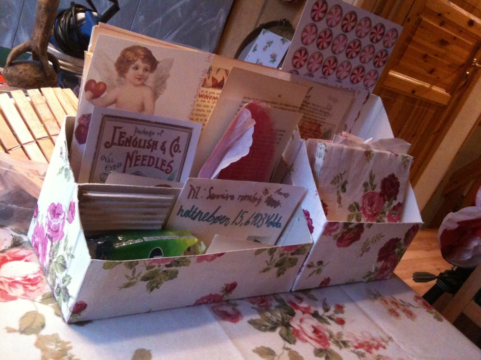 Decoupaged Letter Organizers September 2014