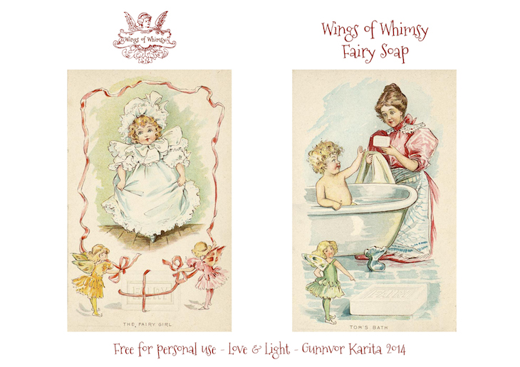 Wings of Whimsy: 1898 Fairy Soap Laundry Room  #vintage #ephemera #freebie #printable #fairy # laundry