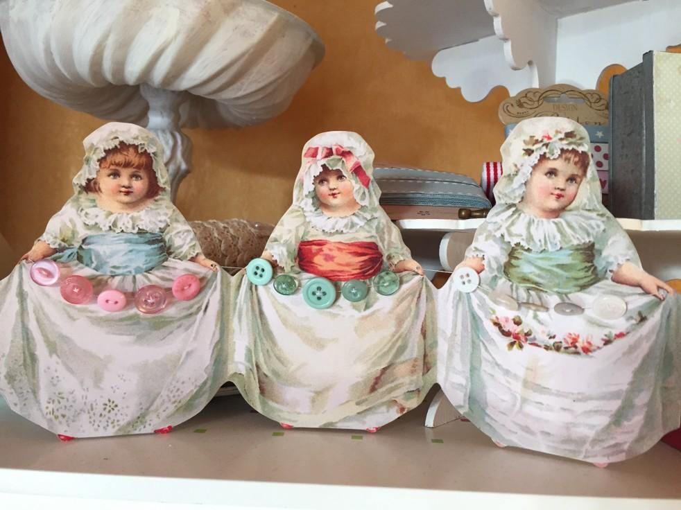 Wings of Whimsy: Pearline Button Girls - #ephemera #vintage #freebie #printable