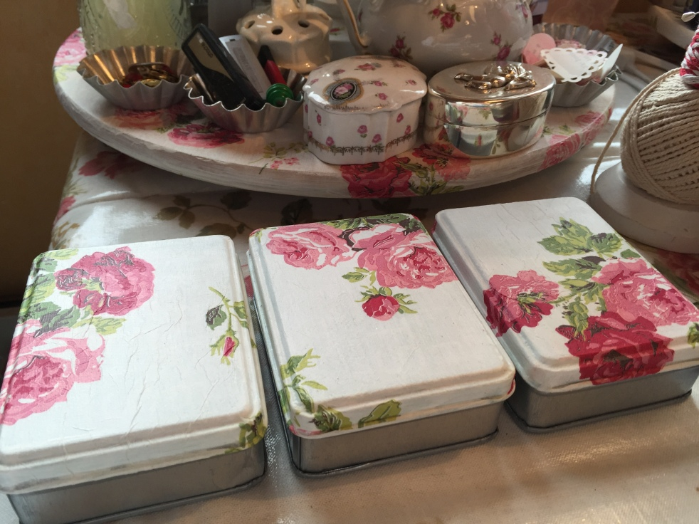 Wings of Whimsy: Decoupaged Metal Tins