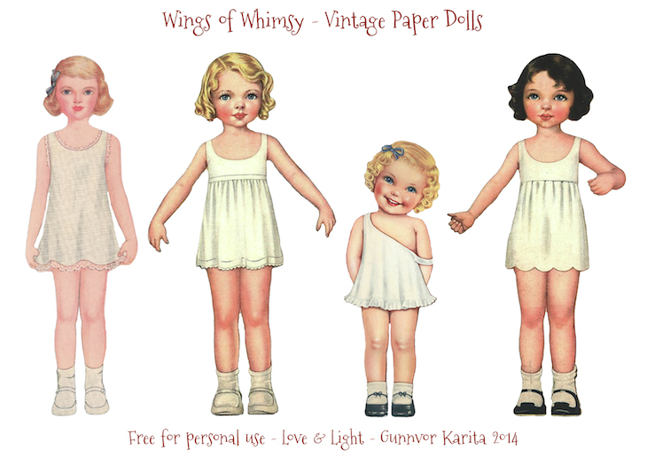 ... Paper Doll Angels #vintage #printable #freebie #ephemera #paper #doll