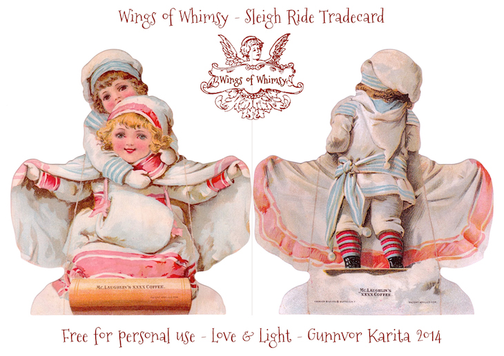 Wings of Whimsy: SleighRide #victorian #ephemera #freebie #printable #tradecard