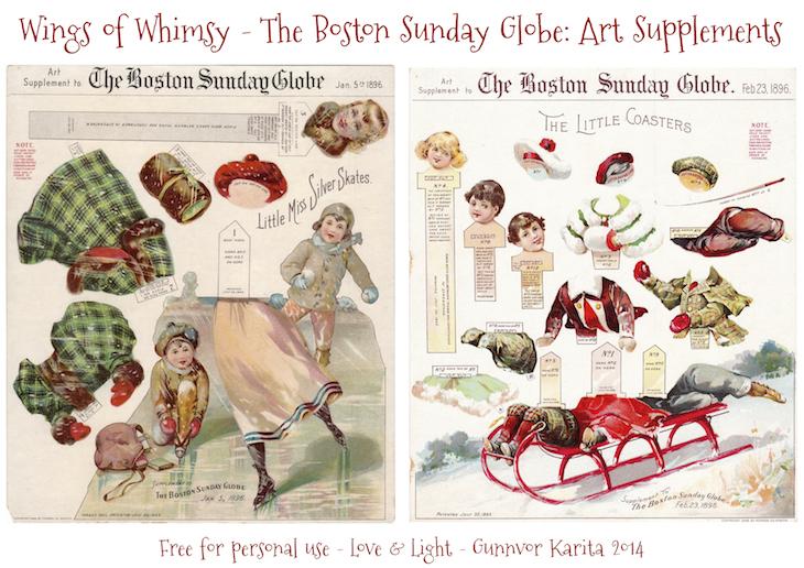 Wings of Whimsy: Boston Sunday Globe - 1896 Art Supplements #freebie #printable #ephemera #christmas #victorian