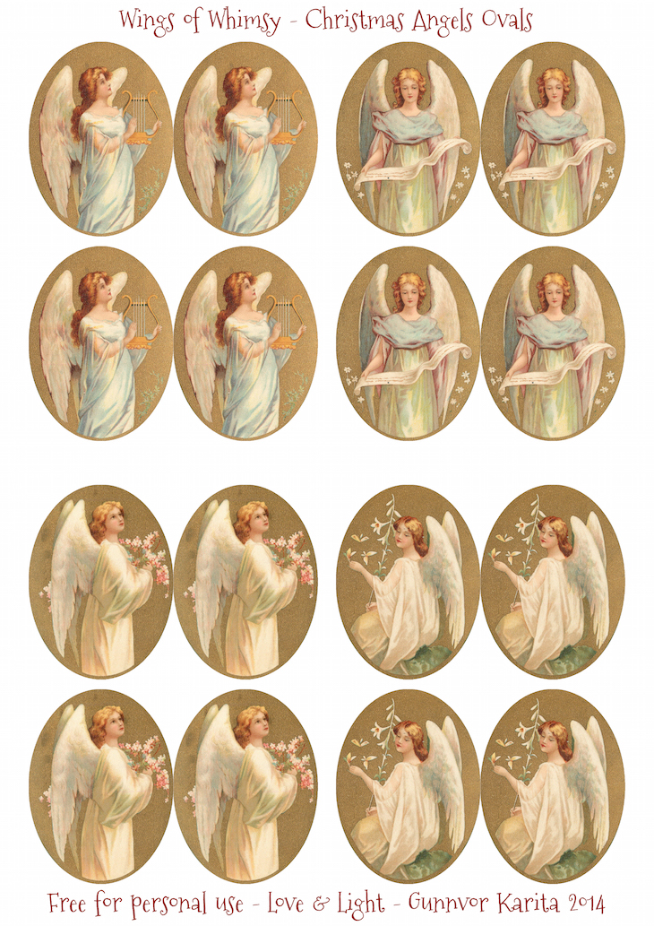 Wings of Whimsy: Christmas Angels #vintage #ephemera #freebie #printable #angel