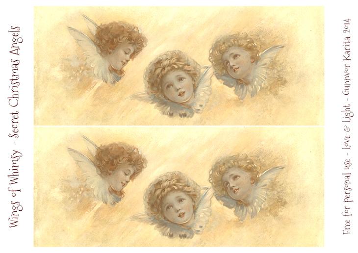 Wings of Whimsy: Secret Christmas Angels #vintage #ephemera #freebie #printable