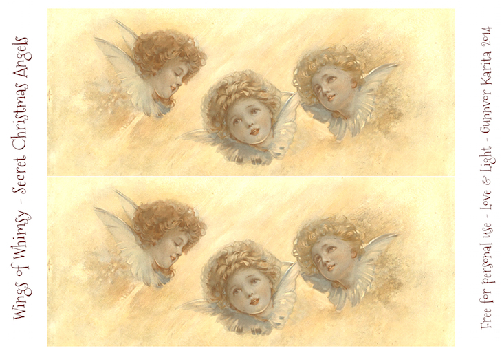 Wings of Whimsy: Secret Christmas Angels #vintage #ephemera #freebie #printable