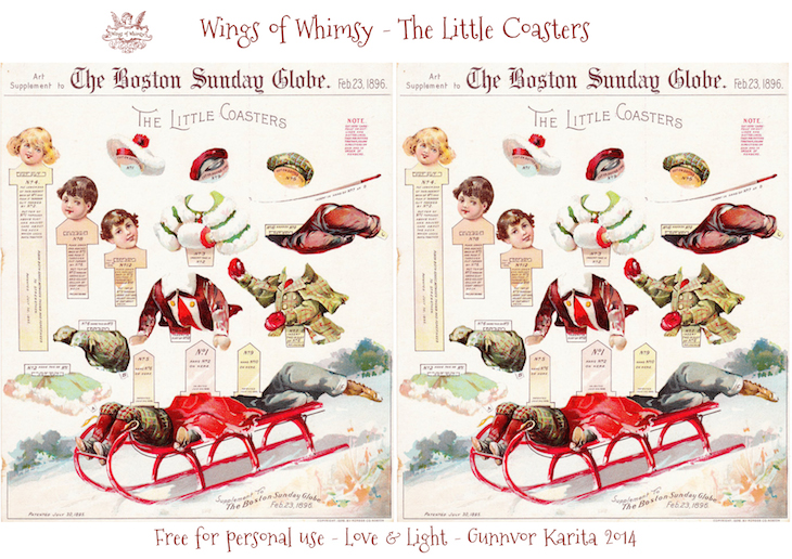 Wings of Whimsy: 1896 Boston Sunday Globe - The Little Coasters #freebie #printable #ephemera #christmas #victorian