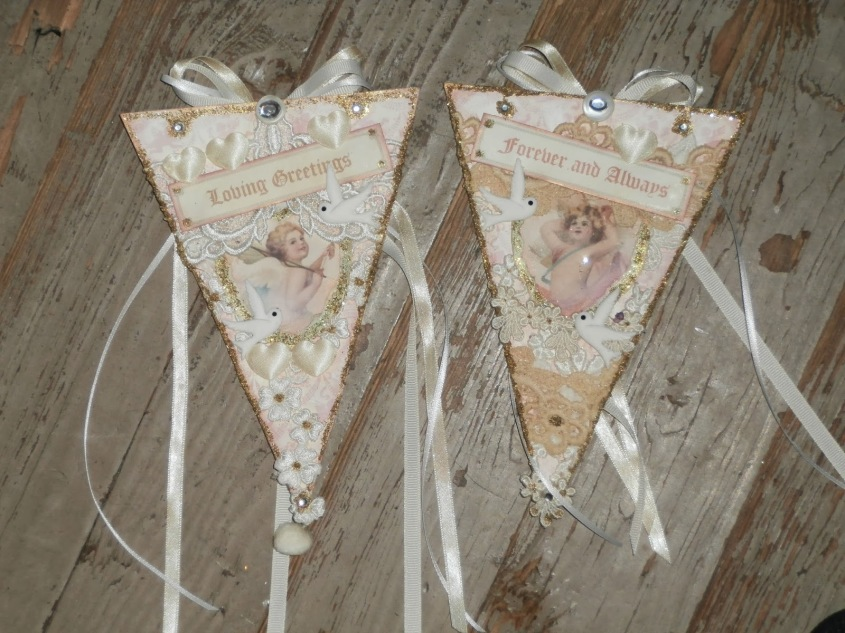 Wings of Whimsy: Cherub Pennants by Barbara, Florida, USA - Reader Feature