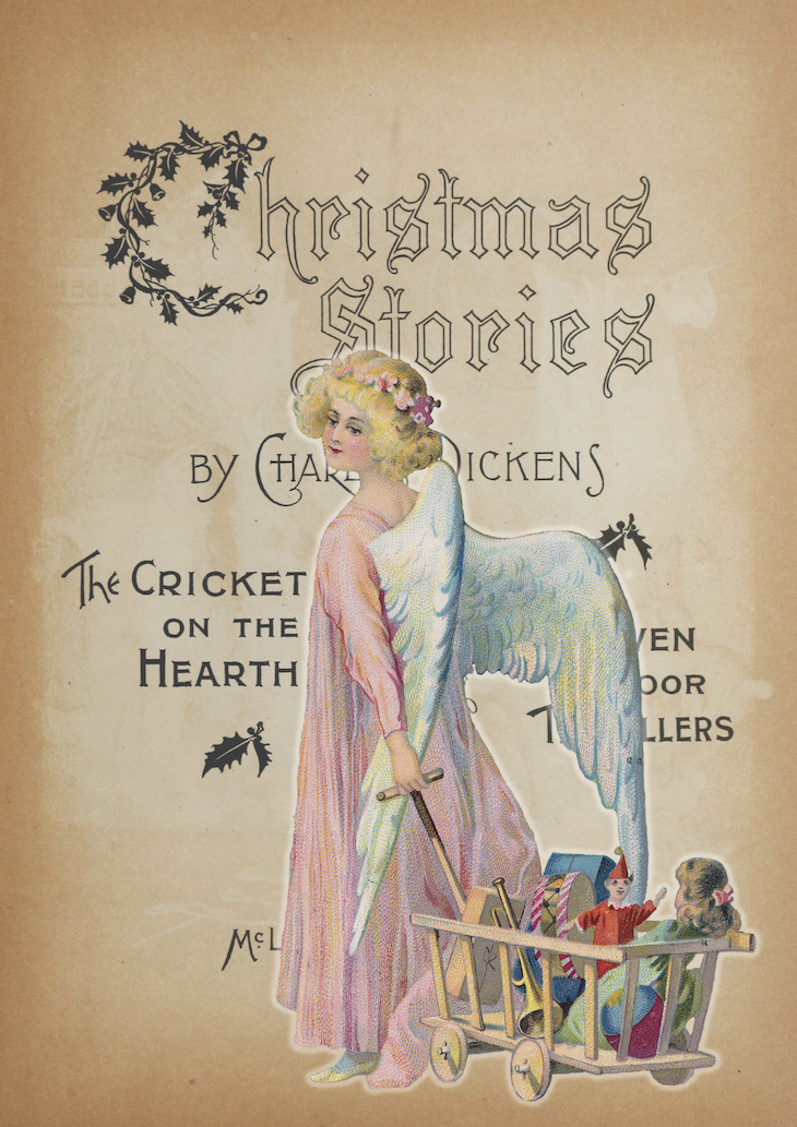 Wings of Whimsy: Vintage Digital Christmas Collage #vintage #ephemera #freebie #printable #typography