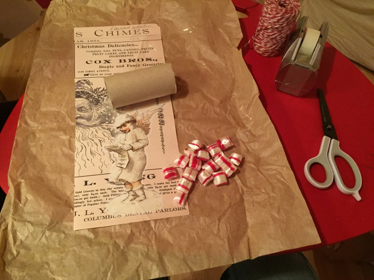 Wings of Whimsy: DIY Vintage Wrapping - Christmas Cracker