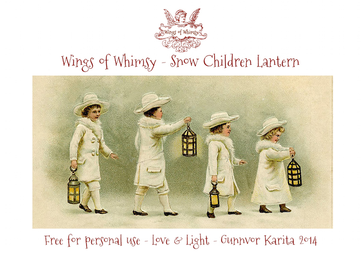Wings of Whimsy: Snow Children Lantern #vintage #ephemera #freebie #printable #lantern