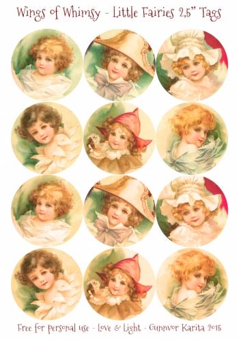 Wings of Whimsy: Little Fairies 2,5# Tags #vintage #ephemera #freebie #printable #fairy