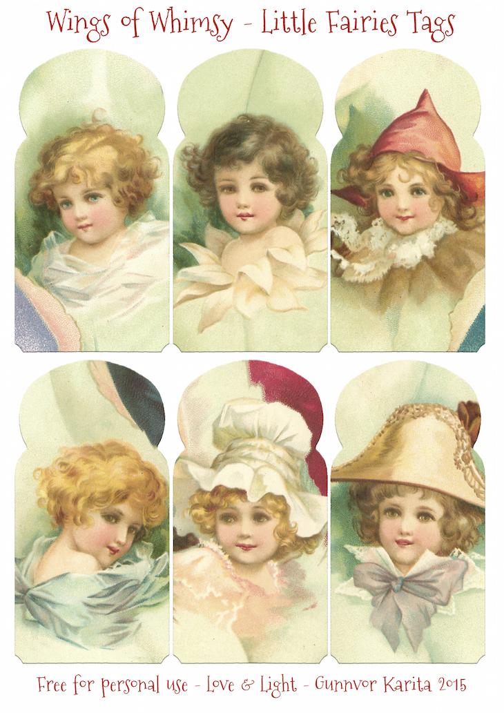 Wings of Whimsy: Little Fairies Tags #vintage #ephemera #freebie #printable #fairy
