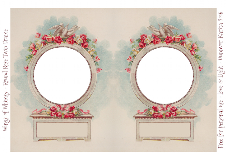 Wings of Whimsy: Die Cut Rose Frame #vintage #ephemera #freebie #printable #valentine