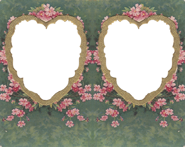 Wings of Whimsy: Die Cut Twin Hearts Frame #vintage #ephemera #freebie #printable #valentine kopi