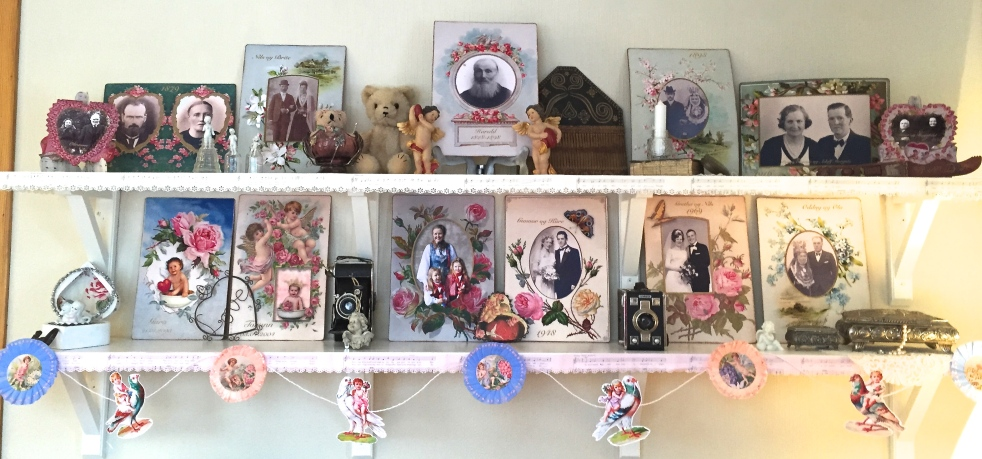 Wings of Whimsy: Valentine Sweethearts Display #vintage #ephemera #valentine # sweetheart