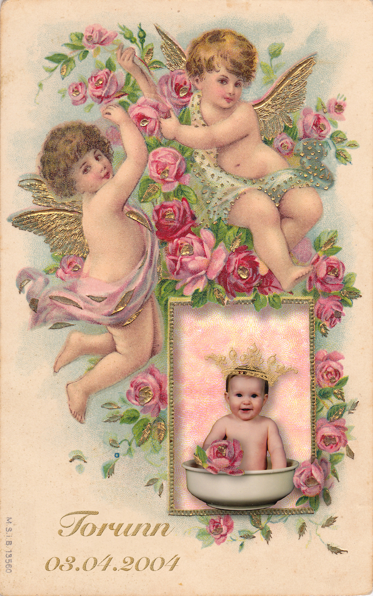 Wings of Whimsy: Cherub & Rose Frame #vintage #ephemera #freebie #printable #valentine