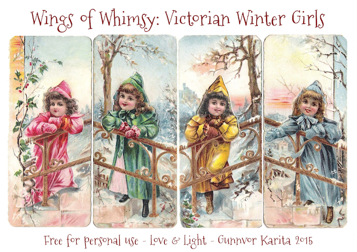 Wings of Whimsy: Victorian Winter Girls Large Tags #vintage #ephemera #freebie #printable #girls # scraps