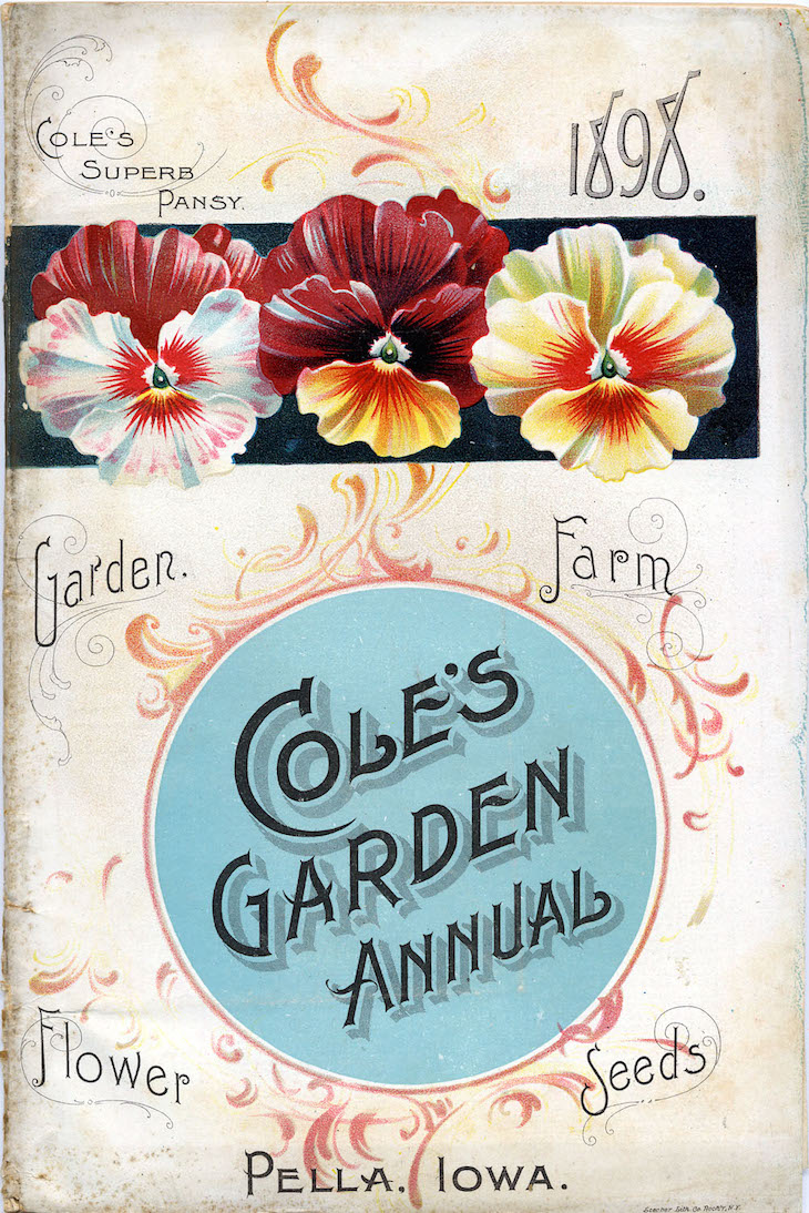 Wings of Whimsy: 1898 Cole's Seed Catalog Front #vintage #ephemera #freebie #printable #seed #catalog #garden