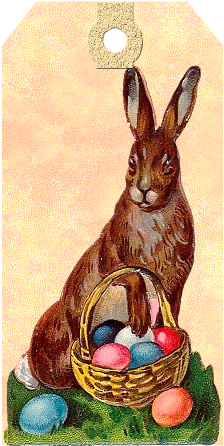 Wings of Whimsy: Victorian Easter Bunny & Eggs Tag 5 #vintage #ephemera #freebie #printable #easter #tags