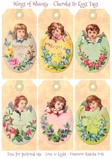 Wings of Whimsy: Victorian Easter Babies In Eggs Tags #vintage #ephemera #freebie #printable #easter #tags