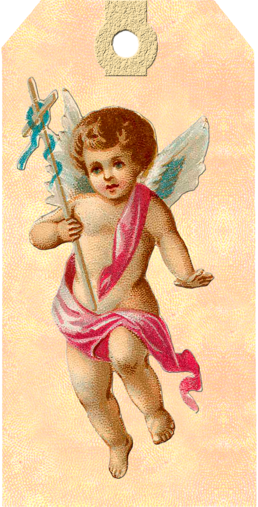 Wings of Whimsy: Victorian Easter Cherub Tag 1 #vintage #ephemera #freebie #printable #easter #tags