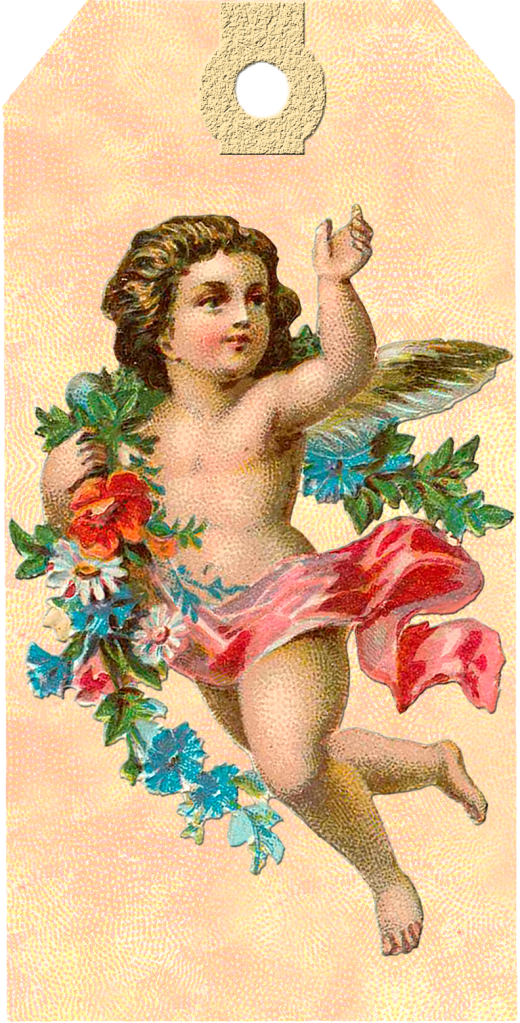 Wings of Whimsy: Victorian Easter Cherub Tag 2 #vintage #ephemera #freebie #printable #easter #tags